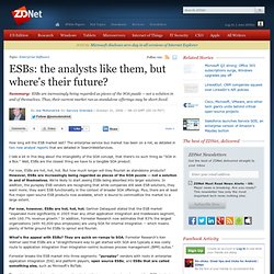 » ESBs: the analysts like them, but where's their future? | Serv