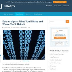 Data Analysts: What You'll Make and Where You'll Make It - Udacity - Be in Demand