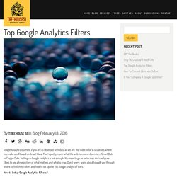 Top Google Analytic Filters