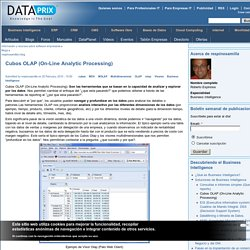 Cubos OLAP (On-Line Analytic Processing)