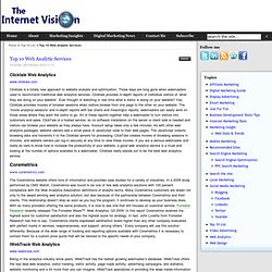 Top 10 Web Analytic Services - TheInternetVision.com