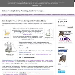 Analytical Armadillo: Something To Consider When Buying an Electric Breast Pump