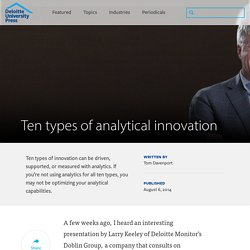 Ten types of analytical innovation
