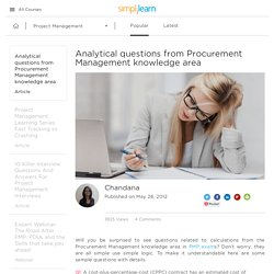 Analytical questions from Procurement Management knowledge area