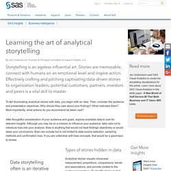 Learning the art of analytical storytelling