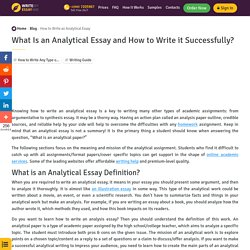 Analytical Essay: Smart Guide for Students to Create a Great Work