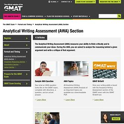 Analytical Writing Assessment Section