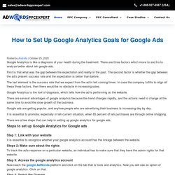 How to Set Up Google Analytics Goals for Google Ads
