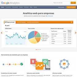 Sitio web oficial de Google Analytics: Analítica web e informes – Google Analytics
