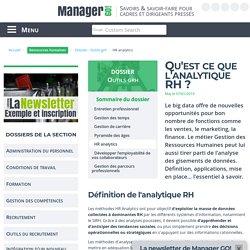 HR analytics (ou analytique RH), l'essentiel