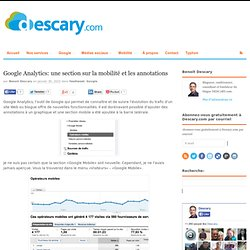 Google Analytics: une section sur la mobilité et les annotations