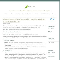 Where Azure Analysis Services Fits Into BI & Analytics Architecture (Part 3) — SQL Chick