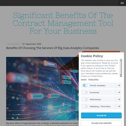 Benefits Of Choosing The Services Of Big Data Analytics Companies