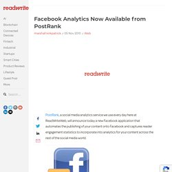 Facebook Analytics Now Available from PostRank
