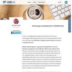 Advantages and Applications of Mobile Data