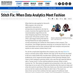 Stitch Fix: When Data Analytics Meet Fashion – BusinessNewsDaily