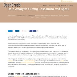 Data Analytics using Cassandra and Spark - OpenCredo