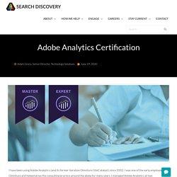 Adobe Analytics Certification
