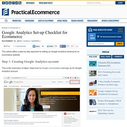 Google Analytics Set-up Checklist for Ecommerce