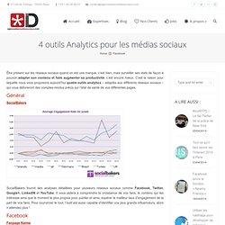 4 outils Analytics pour les médias sociaux