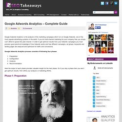 Complete Guide to Google Adwords Analytics
