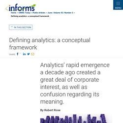 Defining analytics: a conceptual framework