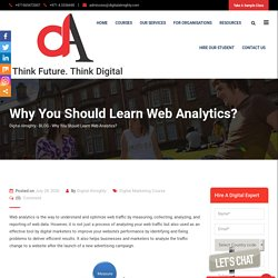 Why You Should Learn Web Analytics