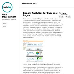 Google Analytics for Facebook Fan Pages