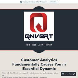 Customer Analytics Fundamentally Causes You in Essential Dynamic