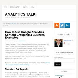 How to Use Google Analytics Content Grouping: 4 Business Examples