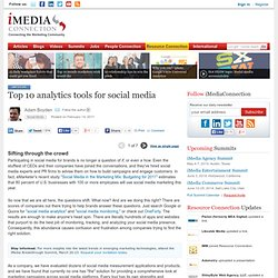 Top 10 analytics tools for social media (single page view)