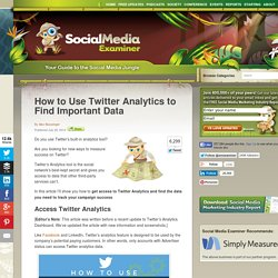 How to Use Twitter Analytics to Find Important Data