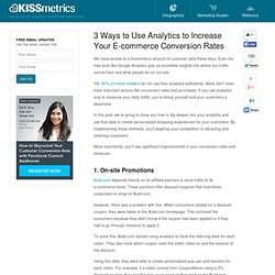 3 Ways to Use Analytics to Increase Your E-commerce Conversion Rates
