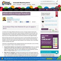 What's New in Google Analytics?