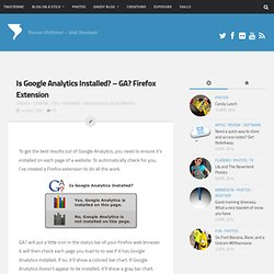 Is Google Analytics Installed? – GA? Firefox Extension - Blog on