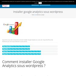 installer google analytics sous wordpress
