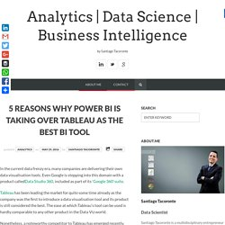 5 Reasons why Power BI is taking over Tableau as the best BI Tool - Analytics