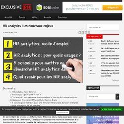 HR analytics : les nouveaux enjeux