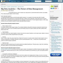 Big Data Analytics – The Future of Data Management