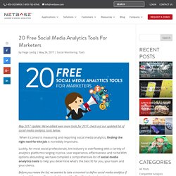 20 Free Social Media Analytics Tools for Marketers - NetBase