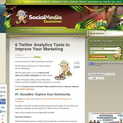 6 Twitter Analytics Tools to Improve Your Marketing