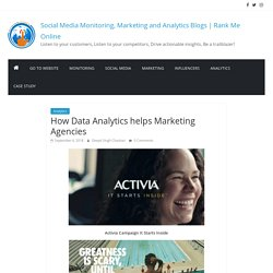 How Data Analytics helps Marketing Agencies - Social Media Monitoring, Marketing and Analytics Blogs