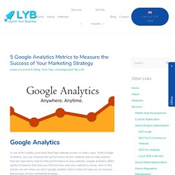 5 Google Analytics Metrics to Measure the Success of Your Marketing Strategy – Launch Your Business