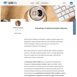 Optimal Analytics Maturity