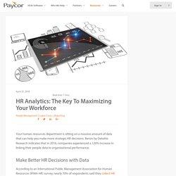 HR Analytics: Key to Maximize Your Workforce