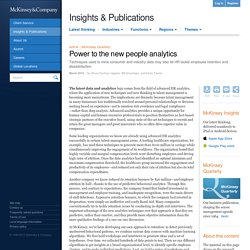 Power to the new people analytics