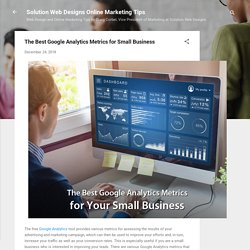 Google Analytics Tool - The Best Support for Small Business
