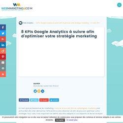 8 KPIs Google Analytics pour optimiser votre stratégie marketing