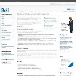 Web analytics and optimization- Bell