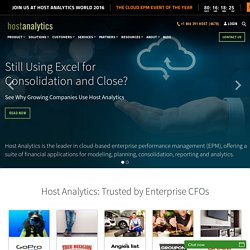 Performance Management – Host Analytics' online budgeting and forecasting solution to drive fact-based decisions | Performance Management with Host Analytics' Business Planning Software | Host Analytics